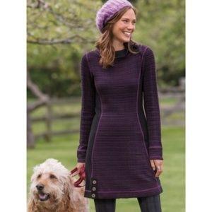 Prana purple and black Kelland dress